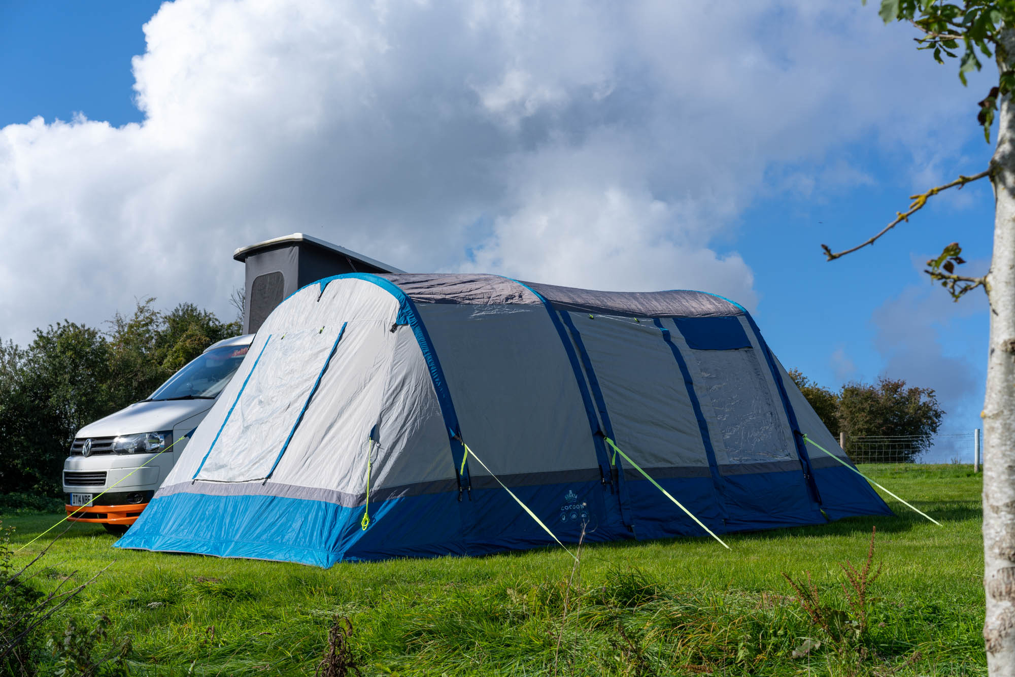 OLPRO Blue Cocoon Breeze Campervan Awning